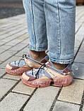 🔥 Кросівки жіночі спортивні повсякденні Jimmy Choo Pink (джиммі чу рожеві), фото 7