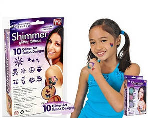 Набор мерцающая татуировка Shimmer Glitter Tattoos