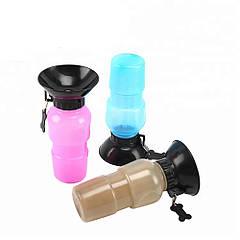 Портативная поилка PET BOTTLE прогулочная бутылка с чашей для собак
