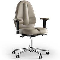 Кресло KULIK SYSTEM CLASSIC Кожа без подголовника без строчки Бежевый 12-909-BS-MC-0104, КОД: 1696985