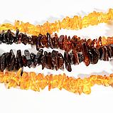Бусы из полированных самородков янтаря, 70 см., 701БСЯ, фото 3