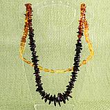 Бусы из полированных самородков янтаря, 70 см., 701БСЯ, фото 5