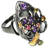 Серебряное кольцо с аметистом и турмалином, 1480КА, фото 3