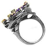 Серебряное кольцо с аметистом и турмалином, 1480КА, фото 4