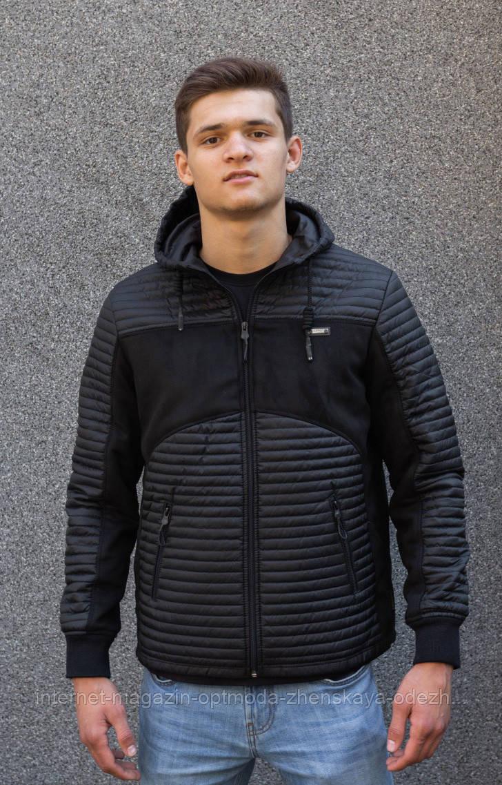 """Стильная мужская куртка демисезонная с капюшоном """"Рассел"""""""