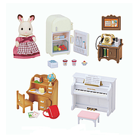 Sylvanian Families Calico Critters Мебель для домика кролика 5220 Classic Furniture Set for Cosy Cottage