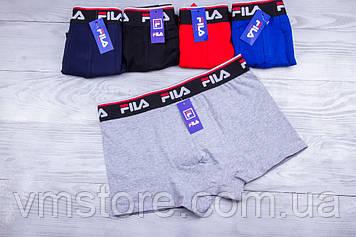 Трусы мужские в стиле бренда Fila, разные цвета  XL, 2XL, 3XL