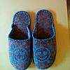 Тапочки войлочные серые с голубым 38-39, 40-41 раз