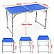Стол для пикника раскладной алюминиевый +  4 стула Синий, фото 3