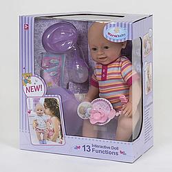 """Кукла Реборн (пупс), девочка """"Warm Baby"""" 13 функций, звуковые эффекты, на батарейках вид 12"""