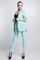 Женский брючный костюм Demarsh с удлиненным жакетом 42-52 размеры разные расцветки