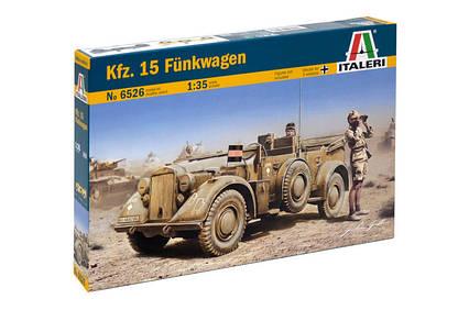 KFZ.15 FUNKWAGEN. Модель-копия военного автомобиля в масштабе 1/35. ITALERI 6526, фото 2