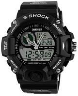 S-Shok SKMEI 1029, мужские спортивные часы, цифровые + аналоговые, будильник, секундомер, 2015г