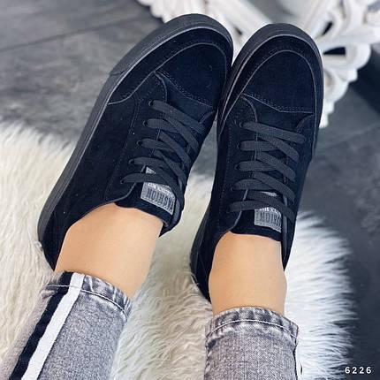 Черные кроссовки на тонкой подошве, фото 2