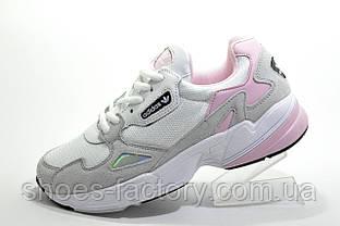 Женские кроссовки в стиле Adidas Falcon W, White\Gray\Pink