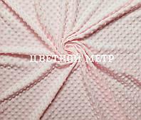Ткань плюш для конвертов на выписку Minky светло-розовый