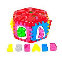 Сортер-шестигранник большой, Kinderway, игрушки для малышей,сотер,деревянные игрушки,деревянный конструктор