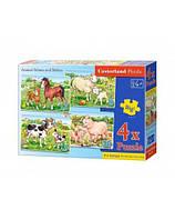 """Пазлы """"Ферма 4 в 1"""", Castorland, пазл,пазлы castorland,детские пазлы,пазлы для детей"""