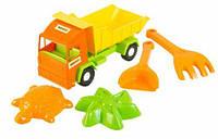 """Песочный набор с машинкой """"Mini truck"""", Wader, машинка,детские машинки,машинки для мальчиков,машина игрушечная"""