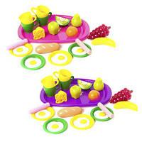 """Поднос с продуктами и посудой """"Завтрак"""" (16 эл), Орион, игрушки для девочек,дитяча кухня,Игрушечный набор"""