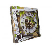 """Набор для творчества """"Embroidery clock"""", """"Енот"""", Dankotoys, вязаные,набор для плетения,детские наборы"""
