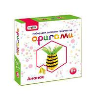 "Набор для творчества ""Оригами: Ананас"", Strateg, аппликация,оригами,товары для творчества,набор"