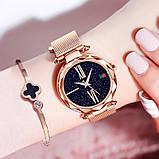 Женские наручные часы Starry Sky Watch на магнитной застёжке Розовый, фото 4