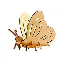 """Деревянный 3D конструктор """"Бабочка"""", Strateg, деревянный конструктор,деревянные игрушки,сотер,детские"""