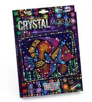 """Набор для креативного творчества """"CRYSTAL MOSAIC"""", """"Рыбка"""", crystal mosaic kids,выкладывание картин из"""