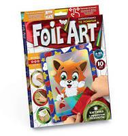 """Аппликация разноцветной фольгой """"FOIL ART"""", """"Лисичка"""", Dankotoys, аппликация,оригами,товары для творчества"""