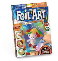 """Аппликация разноцветной фольгой """"FOIL ART"""", """"Мишка"""", Dankotoys, аппликация,оригами,товары для творчества"""