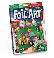 """Аппликация разноцветной фольгой """"FOIL ART"""", """"Машинка"""", Dankotoys, аппликация,оригами,товары для творчества"""