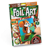 """Аппликация разноцветной фольгой """"FOIL ART"""", """"Белочка"""", Dankotoys, аппликация,оригами,товары для творчества"""