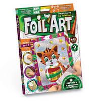 """Аппликация разноцветной фольгой """"FOIL ART"""", """"Котик"""", Dankotoys, аппликация,оригами,товары для творчества"""