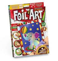 """Аппликация разноцветной фольгой """"FOIL ART"""", """"Слоник"""", Dankotoys, аппликация,оригами,товары для творчества"""