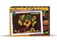 """Вышивка лентами и бисером """"Подсолнухи"""", Dankotoys, вязаные,набор для плетения,детские наборы творчества,наборы"""