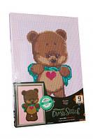 """Вышивка крестиком на канве, на подрамнике """"Мишка"""", Dankotoys, вязаные,набор для плетения,детские наборы"""