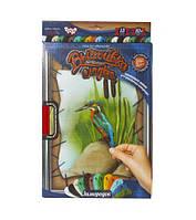 """Вышивка гладью по номерам на растяжке, """"Птичка"""", Dankotoys, вязаные,набор для плетения,детские наборы"""