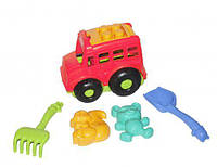 """Автобус """"Бусик"""" с песочным набором розовый, Colorplast, машинка,детские машинки,машинки для мальчиков,машина"""
