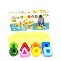 """Игрушка развивающая """"Магические фигурки"""", TIGRES, игрушки для малышей,сотер,деревянные игрушки,деревянный"""