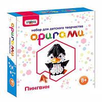 """Набор для творчества """"Оригами: Пингвин"""", Strateg, аппликация,оригами,товары для творчества,набор"""