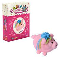 """Набор для вязания """"Мягкая игрушка: Свинка"""", Умняшка, вязаные,набор для плетения,детские наборы"""