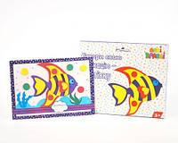 "Набор для творчества ""Аппликация-открытка: Рыбка"", Аплі Краплі, аппликация,оригами,товары для творчества,набор"