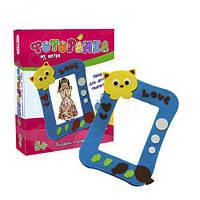 """Фоторамка из фетра """"Котик"""", Strateg, игры и наборы для творчества,наклейки для творчества,наборы для"""