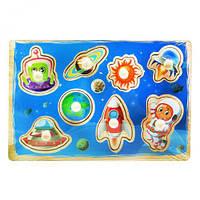 """Рамка-вкладыш """"Космос"""", деревянные игрушки,деревянные рамки-вкладыши,рамка вкладыш,сотер,деревянные игрушки"""