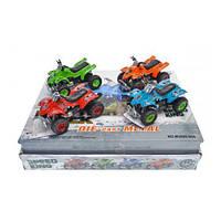 Квадроцикл пластиковый, металлические модели,машинка,игрушки для мальчиков,машина,детские машинки