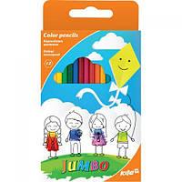 "Цветные карандаши ""Jumbo"", 12 цветов, цветные карандаши,карандаши ,фломастеры,товари для малювання"