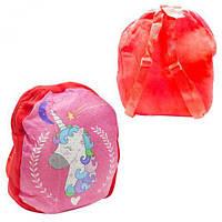 """Мягкий рюкзак """"Единорожек"""" (красный), рюкзак,сумки,городской рюкзак,рюкзаки школьные,рюкзаки женские"""