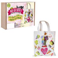 """Набор для творчества """"Декупаж по ткани, Эко-сумка"""", Умняшка, аппликация,оригами,товары для творчества"""