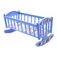 Кроватка для Барби (синяя), мебель для куклы,домик для кукол,кукольные домики,игрушки для девочек,кукольная